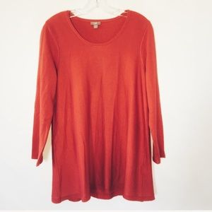 J. Jill Scoopneck Sweater Coral Size Medium